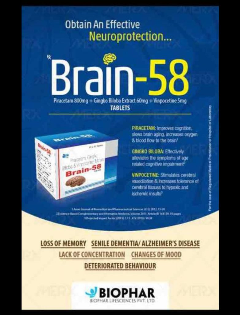 Brain-58 : Biophar lifesciences product for pcd pharma franchise chandigarh